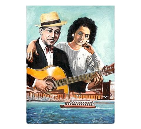 Antonio Firmino postais musicais Cabo Verde